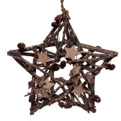 Christmas Pine Cone Hanging Star