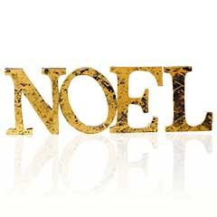 Christmas Wooden Noel Gold Letters - 30cm