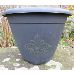 fleur de lys planter 13in on sale fast delivery. Black Bedroom Furniture Sets. Home Design Ideas