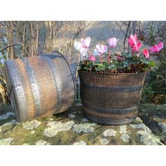 Whisky Barrel Planter 12.5in