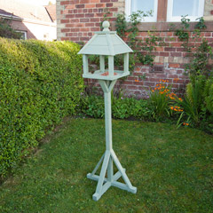 Gardman Kinross Sage Green FSC Redwood Bird Table