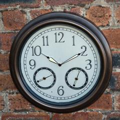 Gardman LED Night Glow Garden Clock - 45cm