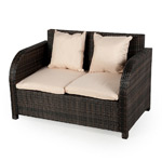 Ellister Eden Rattan Sofa with Cushions