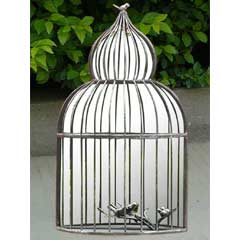Greenfingers Ornate Birdcage Garden Mirror