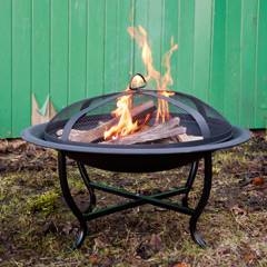 Greenfingers Round Fire Pit with Grill 23in