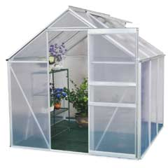 Terra Aluminium Greenhouse - 6 x 6ft