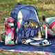 Navigate HotHouse Floral 4 Person Picnic Backpack with Bottle Holder