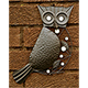 Verdigris Black Metal Owl Wall Art - 30cm high