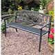 Rondeau Leisure Caen Steel Bench - W127cm